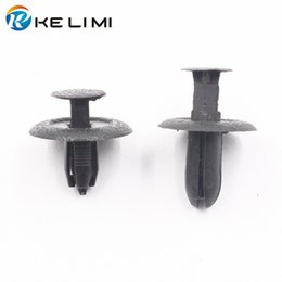 Wholesale Plastic Push - Auto Plastic trunk cover shield trim panel Push-Type Retainer Clips Fastener Rivet for Mazda Mustang 323 M3 M6 B70 B50 Car Styling B46768AC3
