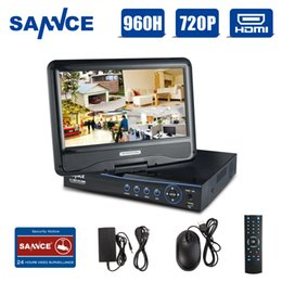 """Wholesale Dvr 8ch Real Time - SANNCE 10.1"""" LCD monitor 8CH Full 720P HD DVR Recorder High Definition H.264 Real-time Surveillance System"""