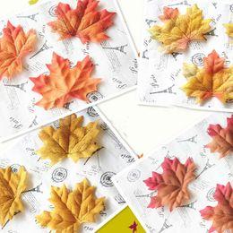 Wholesale Wholesale Silk Maple Leaves - Wholesale- Top Sale 100x Artificial Maple Leaf Garland Silk Autumn Fall Leaves Wedding Garden Decor