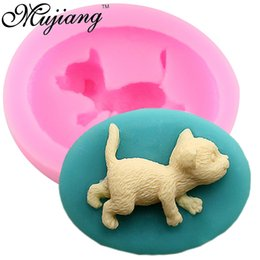 Wholesale Make Cake Decorating - Cat Shape Making Candy Silicone Fondant Molds Party Cake Decorating Tools Fimo Clay Soap Mold Chocolate Gumpaste Moulds