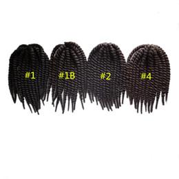 Wholesale Kanekalon Marley Hair - 6pcs lot!Havana Mambo Twist Crochet Braid Hair Senegalese Twist Hair Crochet Synthetic Hair Kanekalon Kinky Marley Twist Braids