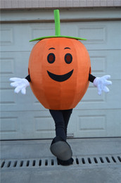 Wholesale Costume Halloween Mascotte - Halloween Pumpkin Man Mascot Costume Adult Size Custom Mascotte Costumes Fancy Dress free shipping