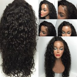 Wholesale Curly Deep Hairstyles - 180 Density Culy Wig Full Lace Wig Brazilian Hair Curly Lace Front Wig Glueless Full Lace Human hair Wigs For Black Women