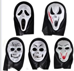 Wholesale Devil Wholesale - Halloween black clok Witch Hat Costume Party Props gost mask Cosplay devil hat party hats Halloween god of death cloak cape mask
