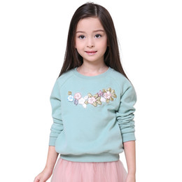 Wholesale Children Hoodies Sweat - Wholesale- 2016 Winter Hot Sale Kids Hoodies Children Girl Hoodie Pullover Long Sleeve Sweat shirts For Baby Girl