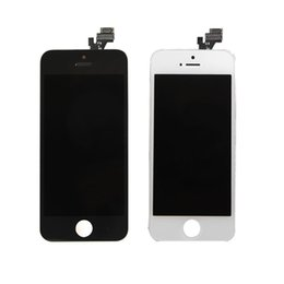 Wholesale Iphone5 Screen Replacement - LCD touch screen digitizer fully assembled IPhone5 5S 5c replacement repair parts black and white mix order free shipping factory outlets