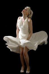Wholesale Graduation Uniform - Robe De Soiree 2018 Marilyn Monroe A-Line Halter Neckline Sleeveless Uniform Ruched Short Chiffon Evening Dresses Sexy Open Back