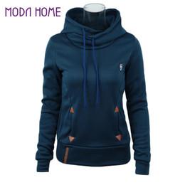 Wholesale Wholesale Leather Hoodies - Wholesale- 2016 Autumn Winter Solid Women Hoodies Plus Size 3XL Loose Sweatshirt Fashion Pu Leather Patch Coat With Pocket