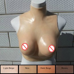 Wholesale Large Silicone Bra - Silicone Breast Forms Mastectomy Boobs Prosthesis Transvestite Enhancer Artificial Breast Shemale Crossdressing Intimates Bras YV0020
