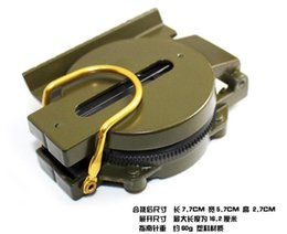 Wholesale Green Military Lensatic Compass - Height Measuring Instruments Mini Military Camping Marching Lensatic Compass Magnifier Army Green