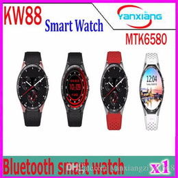 Wholesale Bluetooth Camera Maps - Post KW88 Smart Watch Phone Android Bluetooth Wifi Support Google Play GPS Map 1.39 inch Screen Smartwatch Clock 1 pcs YX-KW-88