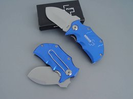 Wholesale Blue Rhino - New BOKER Plus Mini Small Rhino Red Blue handle knife 440C 56HRC Blade,EDC pocket knifes knives with Retail box packaging