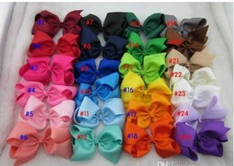 Wholesale Wholesale Baby Boutiques - Free Shipping Hot Selling 3inch high quality grosgrain ribbon baby boutique hair bows WITH CLIP for children hair accessories