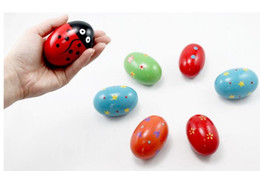 Wholesale Egg Plant - Exquisite Wood Sand Egg Baby Educational Wooden Ball Toy Musical Maracas Shaker percussion Instrument Cute Gift