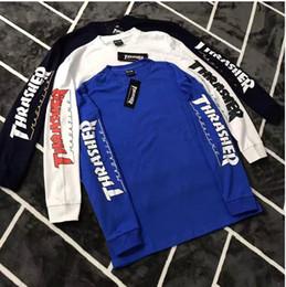 Wholesale Friends Sleeve - 2017 hiphop BEAUYYOUTH tops tees kanye west harajuku kpop friends kanye west printed crewneck long-sleeve supp t shirt mens clothes