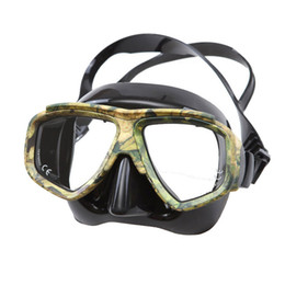 Wholesale Wholesale Dive Gear - Wholesale- 2017 NEW Disguise Camouflage Scuba Dive Mask Myopic Optical Lens Snorkeling Gear Spearfishing Swim Goggles Diving Swimming Mask