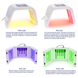 blu maschera di luce principale Sconti LM004 rosso blu verde giallo 4 LED maschera facciale PDT luce per terapia della pelle dispositivo di bellezza per la pelle del viso ringiovanimento salone di bellezza attrezzature