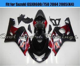 Wholesale Plastic Kit Motorcycle - Hot Sale Fairing 04GSXR Kit Fit for Suzuki GSXR600 750 2004 2005 K4 Plastic for 04 GSXR600 Bodywork Bodyframe for Motorcycle Cheap Fairing