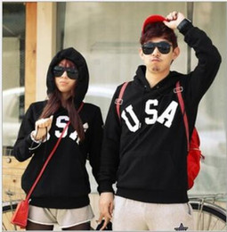 Wholesale Hooded Sweaters For Men - Free shipping USA hoodie Neutral hooded sweater pullover for spring autumn winter Hoodies fleece hoody Man   woman Sweatshirts 9 color