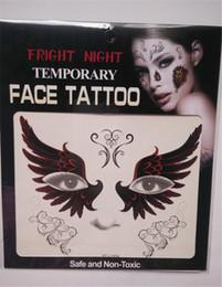kinder tattoos großhandel Rabatt Schreck Nacht temporäre Gesicht Tattoo Body Art Chain Transfer Tattoos temporäre Aufkleber auf Lager 9 Arten von hoher Qualität