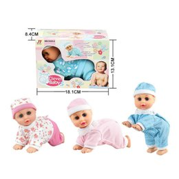 Wholesale Talking Dance Toys - Wholesale- Lovely Baby Infant Early Learning Toy Say Mama Daddy laugh Crawl Doll Electric Music Crawling Baby Talking Singing Dancing Doll