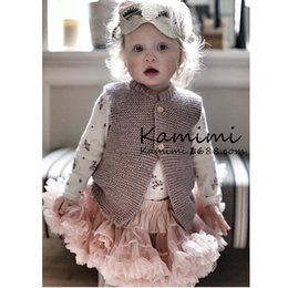 Wholesale Kids Crochet Jackets - INS hot baby girl kids Knit Knitted sweater Vest Coat blazers cardigan Jacket Crochet sweaters poncho Spring clothes clothing Cute outfits