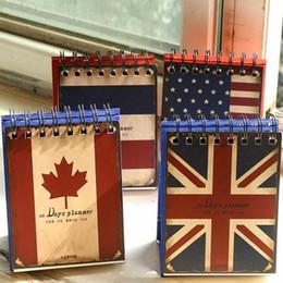 Wholesale Memo Flags - Wholesale- Retro creative flag notebook 100 days planner memo schedule Coil Notepad office Study Planner agenda 2017 libretas y cuadernos