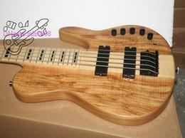 Oem baixo da guitarra baixa on-line-Personalizado 5 Cordas Guitarra Baixo VENDA QUENTE 5 cordas Elétrica guitarra baixo Natural de uma peça do corpo OEM disponível de Alta Qualidade