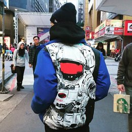 Wholesale Puffy Clothing - Newest Sup Astronaut Puffy Jacket NASA Men Women Couple Outerwear Fashion Down Jacket High Quality Thicker Keep Warm Cotton Clothing HFJK043