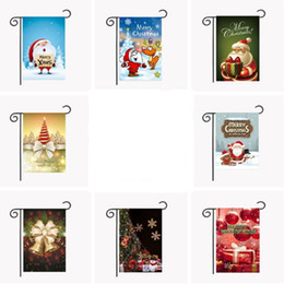 Wholesale Eve Style - Christmas Flag Xmas Party Santa Claus 2017 New Style Decoration Garden Polyester Print Home Decor Banner Outdoor Decorative Eve Night