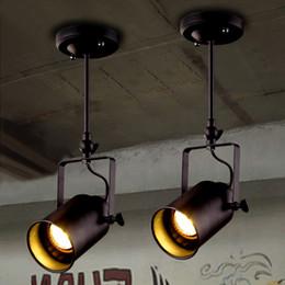 Wholesale Barber Led - Retro clothing store personality LED strip light creative coffee bar showroom LED spotlight restaurant shop barber corridor ceiling lamps