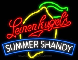 """Wholesale Led Neon Commercial Sign - Leinenkugel's Summer Shandy Neon Sign Handcrafted Custom Real Glass Tube Advertisement Display LED Logo Sign 31""""X24"""""""