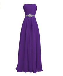 chiffon wedding dresses photos Coupons - Purple Bridesmaid Dresses Long 2019 Sweetheart Sleeveless with Lace Up Back Chiffon Wedding Party Dress Fast Shipping