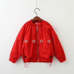Wholesale Wholesaler For Leather Jackets - Everweekend Kids Baby Yellow and Red Color Autumn Jackets Children Zipper Casual Western Outwears Coats for Kids
