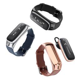 casque de montre de téléphone Promotion Bracelet de montre intelligente de luxe M6 avec casque de moniteur de sommeil podomètre bluetooth détachable bluetooth pour iphone Android / téléphones cellulaires IOS