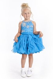 Wholesale Variety Beads - Variety Infant Mini Short Skirts Little Princess Girls Crystal Pageant Dresses By Rhinestones Toddler Prom Ball Gowns