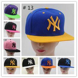 Wholesale Ny Caps Snapbacks - Snapbacks Hip-Hop Caps NY Caps Casual Cartoon Peripheral Adjustable Baseball Hats Outdoors Sports Sunshine Cap Letter Pattern