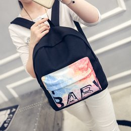 Wholesale Fashion Styles For Teens - Korean Fashion Canvas Casual Backpack College Wind Letters Printing Women Backpacks Travel Bags for Teens Girls