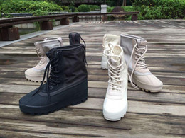 Wholesale Ribbon Lace Shoes - Wholesale 2016 Hot Sale Kanye West shoes 950 boost 950 boots men women shoes High shoes duck Boot free shipping eur