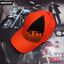 Wholesale Ktm Hats - 2016 New Original Cotton Sports KTM Racing Cap MOTOGP Motorcycle Baseball Cap Car Visors Sun Hats Casquette