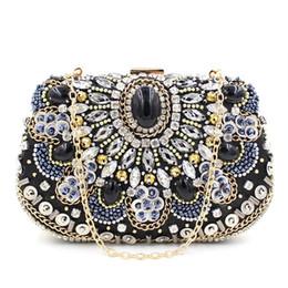 Wholesale Handmade Phone - 2016 Fashion Handmade women lady purses handbags rhinestone diamond crystal clutch evening bags 3 colors hot sale