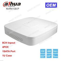 Wholesale Udp Dns - Dahua OEM NVR4108-P NVR 8CH Channel Smart Mini 1U 4 POE Network Video Recorder