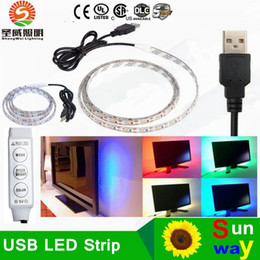 Wholesale Bicycle Computer Led - DC 5V Led Strips 5m RGB SMD5050 60LED m Flexible LED Strip for TV Car Computer Bike Bicycle Tent Christmas Festival Party Lighting