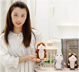 Wholesale Toy Talking Repeat Hamster - Talking Hamster Talk Sound Record Repeat Stuffed Plush Animal Kids Child Toy Talking Hamster Plush Toys OPP Bag