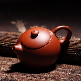 Wholesale Ceramic Clay Pots - Free shipping Xi Shi teapot Red mud Yixing Purple sand pot Gifts teapot Authentic Promotion