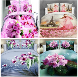Wholesale hand cream warmer - Home Textiles 3D nice Reactive printing cotton 4 pcs bedding set duvet quilt cover bed sheet Pillowcase bedclothes