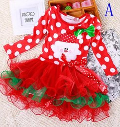 Wholesale Baby Holiday Dresses - Girls christmas dress babies clothes kids holiday Infant Girl Dress Kids Baby Clothes Girls Christmas Long Sleeves Children Fancy Gowns