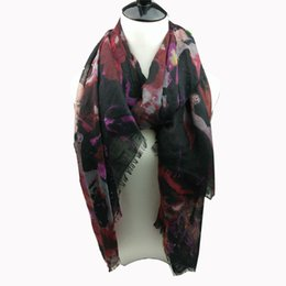Wholesale New Cotton Printed Scarves - 2016 New designer luscious floral printing women winter scarf neckwear five colors available factory selling directly cheap