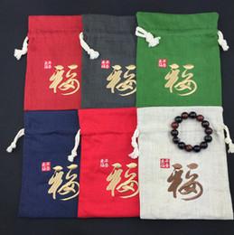 farfalle organza viola Sconti Sacchetti del regalo del partito della tela di cotone delle piccole di Lino delle borse cinesi grandi del pacchetto del sacchetto di immagazzinaggio decorativo del sacchetto del cordone di alta qualità