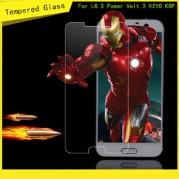 Wholesale X Volt - For LG X Power Volt 3 K210 K6 K6P Boost Mobile For Galaxy A7 2016 Galaxy A5 2016 Tempered Glass Screen Protector Film